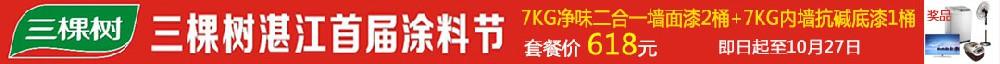 湛装网·三棵树涂料专场协议价团购,湛江首届涂料节。