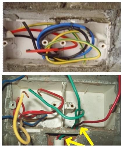 线管中间暗埋部分使用接线接头   3,开槽深度未小于3公分,未能确保线