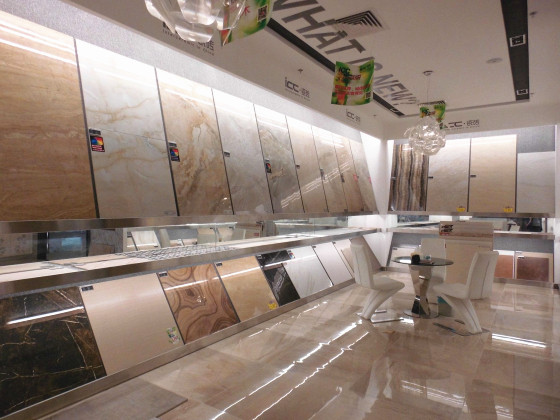 icc瓷砖海田店,从门口的装修风格中你就可以
