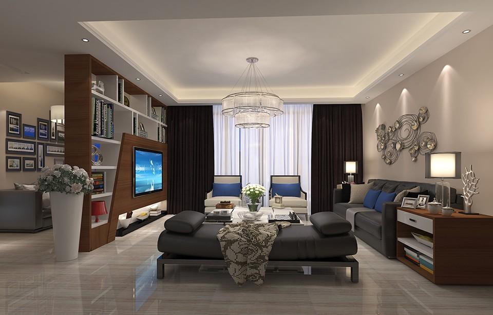 主人房应用硬包做床头背景,简洁大方,外加玫瑰金钢体现时尚与
